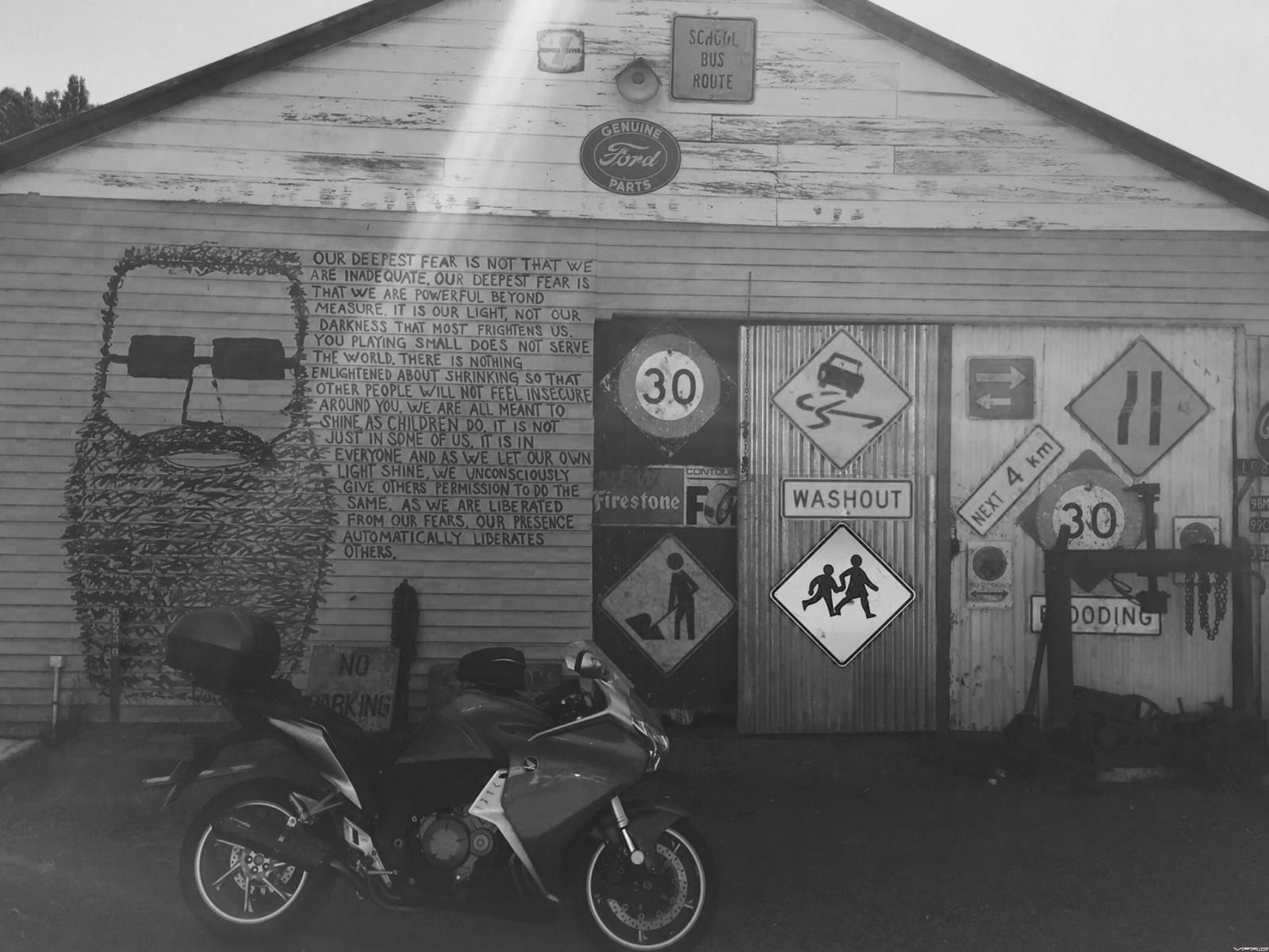 Forgotten Highway - Whangamomona Graffiti - unlikely ever to be a movie!