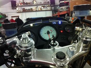 Dash with volt & gear indicators built In