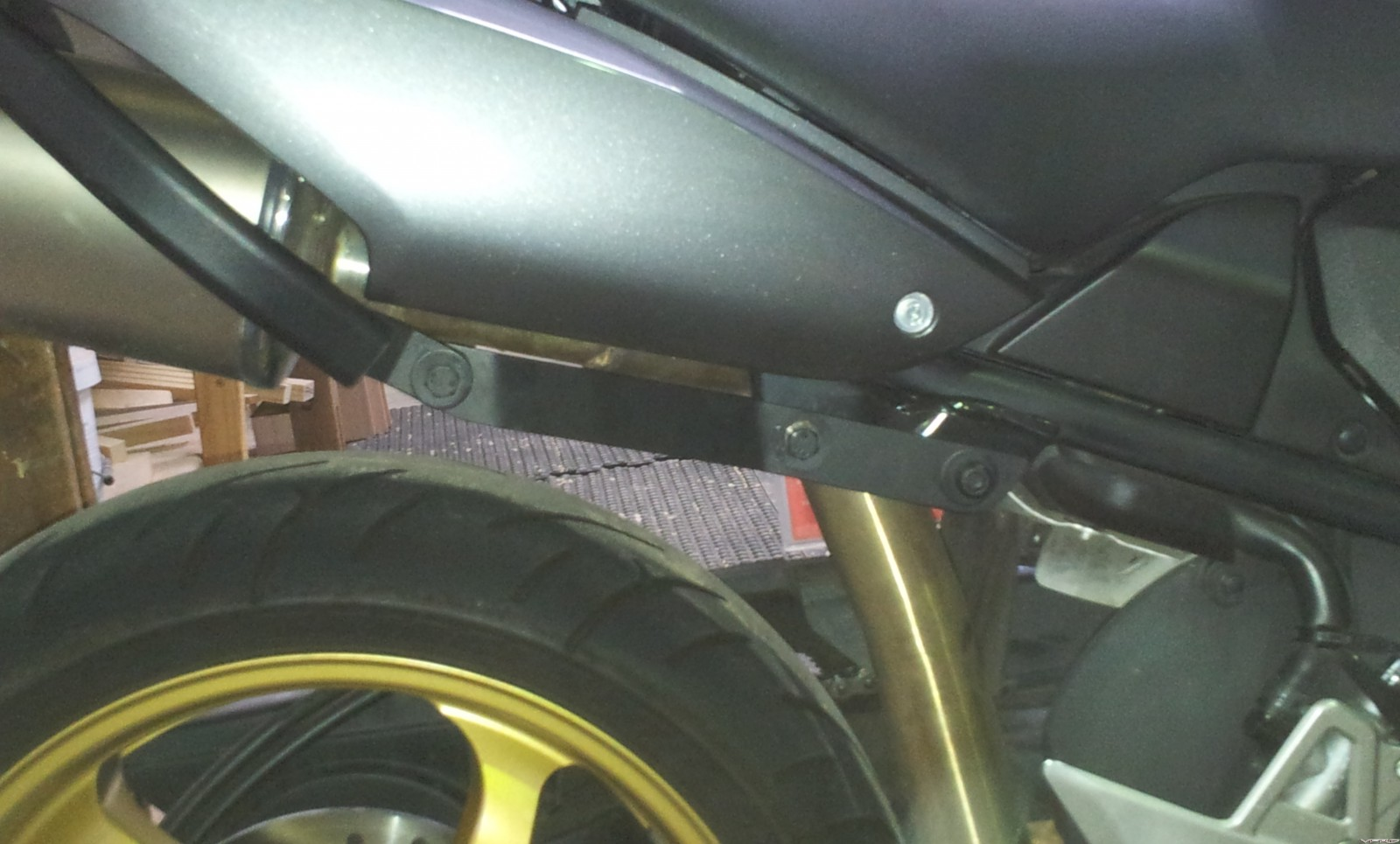 Pillion Peg removal & bracket 1a