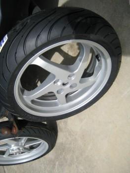 rear wheel powdercoated
