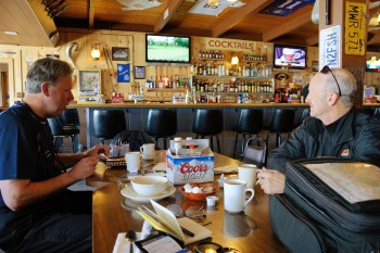 21 - coffee break at Sportsman's Cafe in Bridgeport, Cal