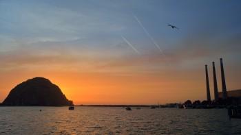 60 - evening twilight at Morro Bay, Cal - no vampires