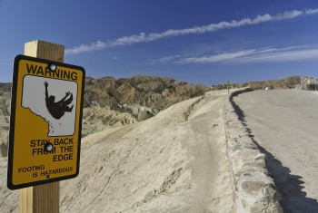 37 - mind the sign Tony - Zabriskie Point, Death Valley