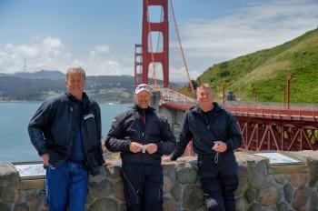 70 - Bart, Tony, Dave at Golden Gate Bridge