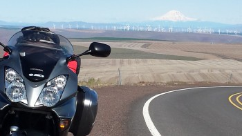 Volcanos and windmills in Oregon