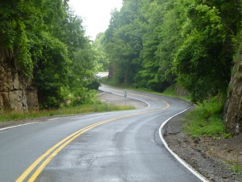 A typical southern WV road