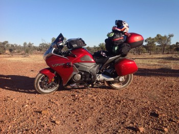 Took an off road excursion; in OZ, I have truly demonstrated the VFR's ability to handle dirt and gravel....