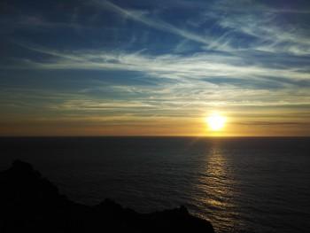 Sun setting on the Atlantic
