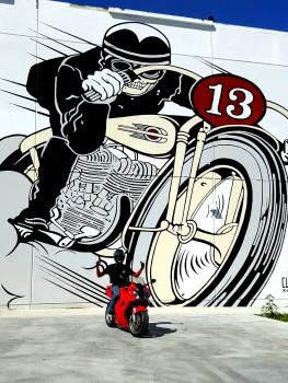 Honda VFR Wynwood Walls biker Graffiti