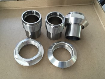 Axle inserts and 56 mm nuts