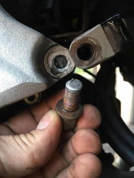 broken subframe bolt