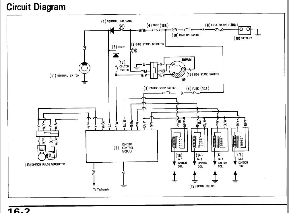 Vfr 750 1996 No Spark - Electrical